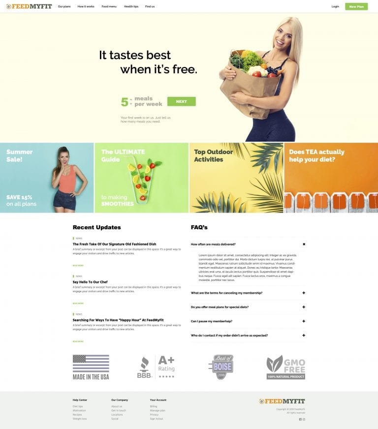 FEEDmyFIT website concept