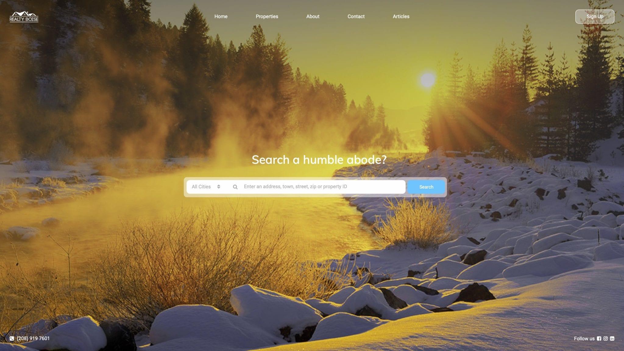 Realty Boise website concept