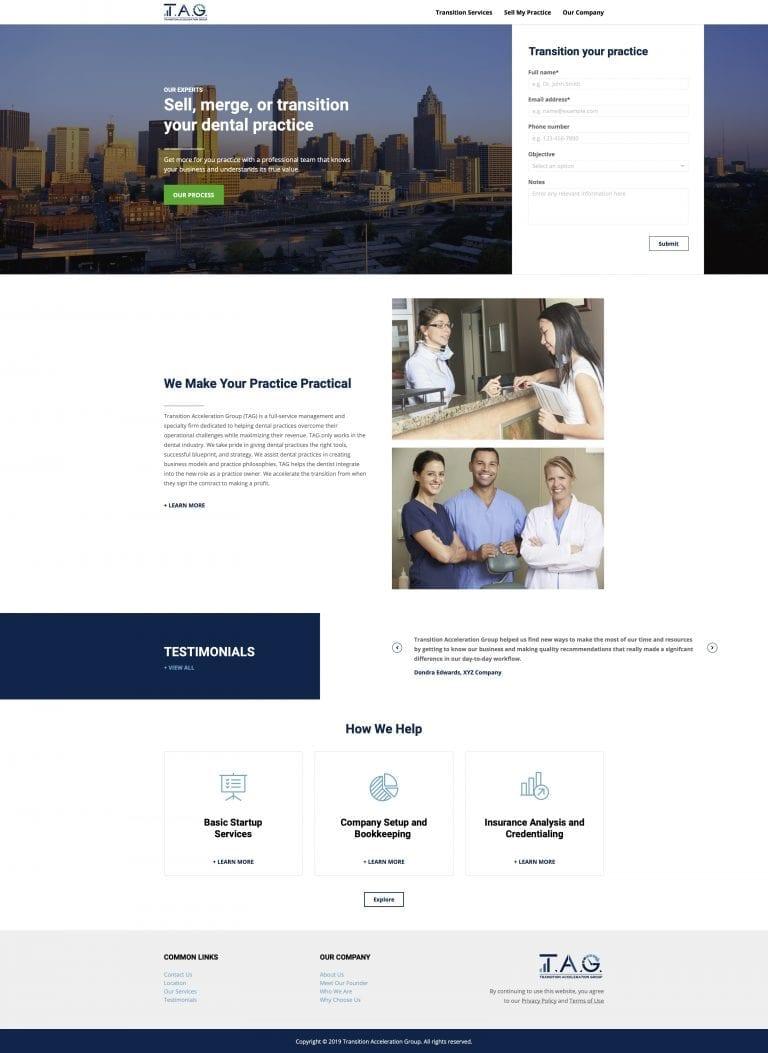 Transition Acceleration Group website concept