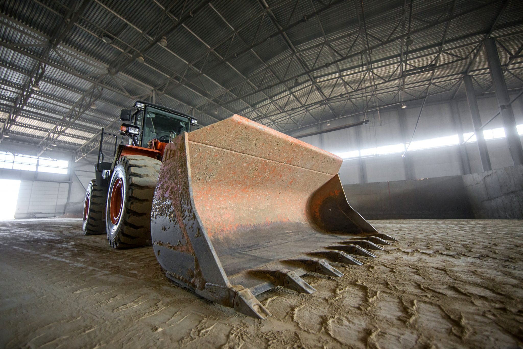 Large front loader tractor