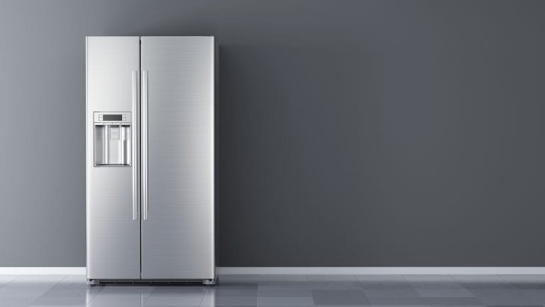 Clean modern fridge